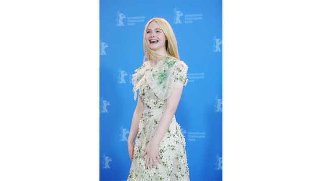 berlin germany february 26 elle fanning attends the the roads not taken photo call during the 70th berlinale international film festival berlin at... - gif stock videos & royalty-free footage