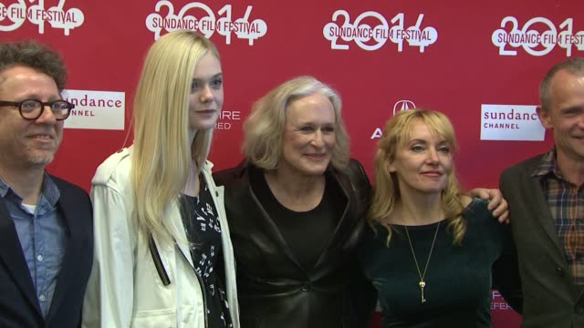 """stockvideo's en b-roll-footage met elle fanning, flea, glenn close, amy albany and jeff preiss at """"low down"""" world premiere - 2014 sundance film festival at eccles center theatre on in... - glenn close"""