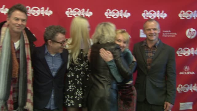Elle Fanning Flea Timothy Daly Glenn Close Amy Albany and Jeff Preiss at Low Down World Premiere 2014 Sundance Film Festival at Eccles Center Theatre...
