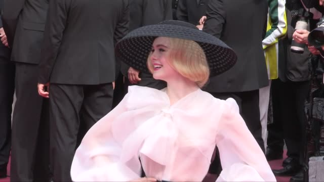 Elle Fanning on the red carpet for the screening of Once Upon A Time In Hollywood Cannes France on Tuesday May 21 2019