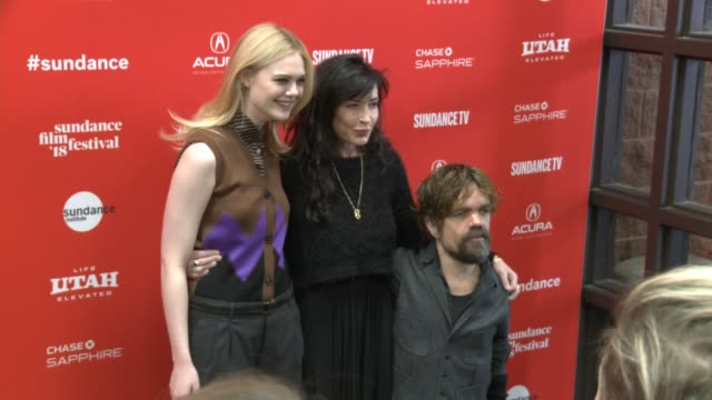 Elle Fanning Peter Dinklage and Reed Morano at the 'I Think We're Alone Now' Premiere 2018 Sundance Film Festival at Eccles Center Theatre on January...