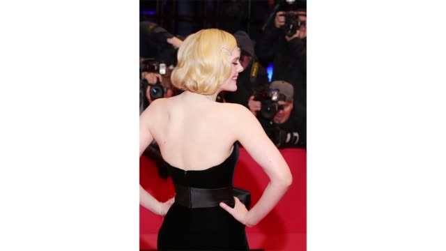 berlin germany february 26 elle fanning poses at the the roads not taken premiere during the 70th berlinale international film festival berlin at... - gif stock videos & royalty-free footage