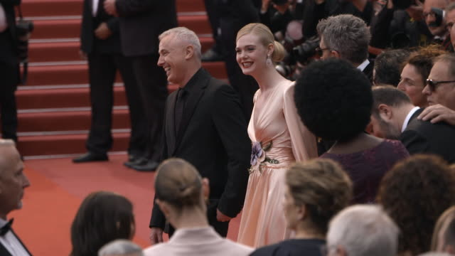 SLOMO Elle Fanning Robin Campillo at 'The Dead Don't Die' Red Carpet Arrivals Opening Ceremony The 72nd Cannes Film Festival on May 14 2019 in Cannes...