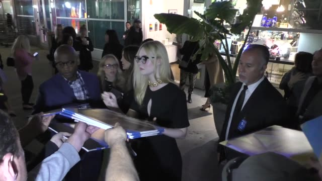 elle fanning signs for fans outside a special screening of all the bright places at arclight cinemas in hollywood in celebrity sightings in los... - arclight cinemas hollywood stock videos & royalty-free footage