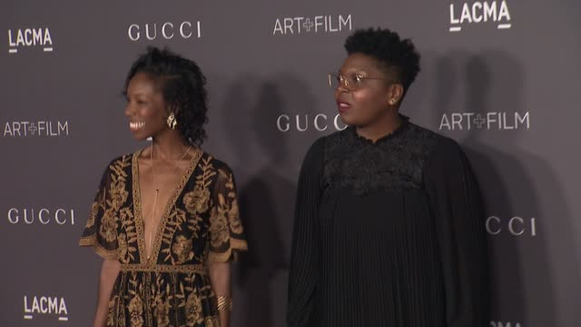 elle lorraine and dime davis at the 2017 lacma art film gala honoring mark bradford and george lucas and presented by gucci at lacma on november 4... - lorraine stock videos & royalty-free footage
