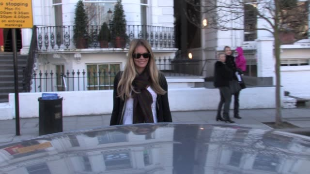 elle mcpherson takes their child to school in west london, uk - school child stock videos & royalty-free footage