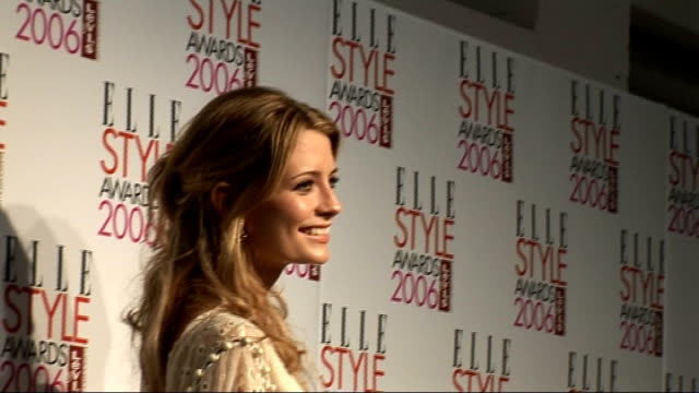 elle style awards 2006: interviews; **beware flash photography** barton posing for photocall with beesley and on her own june sarpong posing for... - jamie theakston stock videos & royalty-free footage