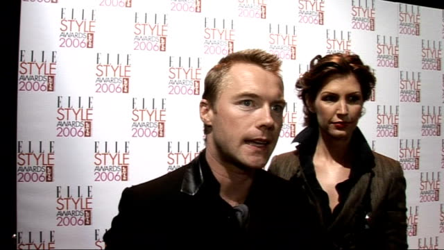 elle style awards 2006: interviews; england: london: truman brewery: atlantis gallery: int * * some intermittent flash photography throughout package... - ronan keating stock videos & royalty-free footage