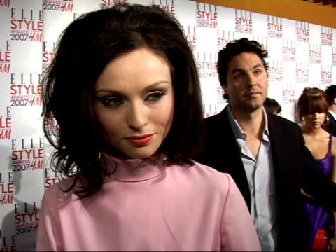 arrivals / interviews sophie ellis bexter interview sot new single out soon/ plans for valentine's day - pink singer stock videos and b-roll footage