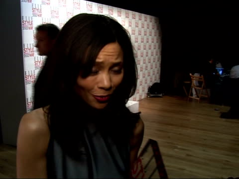 arrivals / interviews thandie newton interview sot delighted with award will go with bafta award - thandie newton stock videos & royalty-free footage