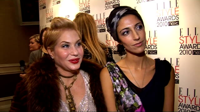 elle style awards 2010; brix smith-start and yasmin sewell interview sot - on the glamour of the elle awards - on the success of london fashion week,... - patchwork stock videos & royalty-free footage