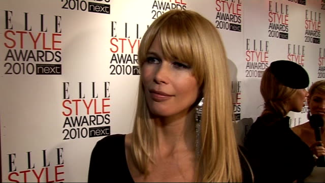 Elle Style Awards 2010 Claudia Schiffer interview SOT how important Elle is huge number of fashion pages in the magazine loves designers Hakan...