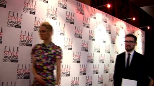Elle Style Awards 2010 Holly Fulton interview SOT amazing support network in London says accessories have to be big Laura Bailey posing for photocall...