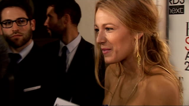 red carpet interviews Blake Lively talking to press SOT / Helena Christensen talking to press SOT / GVs Tom Ford and Samantha Cameron