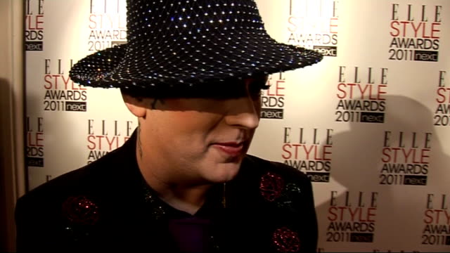 red carpet interviews Boy George interview SOT On getting ready / On Lady Gaga / On his new album first for ten years / Quickfire style questions GVs...