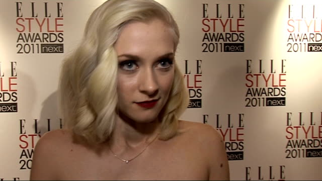 red carpet interviews Portia Freeman interview SOT On celebrity style of the moment / On Lady Gaga / Answers quickfire questions Jaime Winstone...