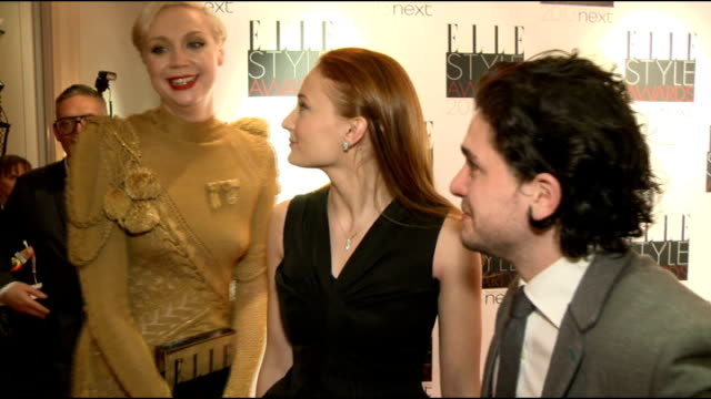 elle style awards 2013 game of thrones cast interview sot - cast member stock videos & royalty-free footage