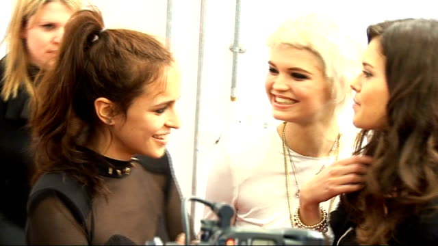 Arrivals and interviews ****FLASH Alice Dellal Pixie Geldof and Sarah Ann posing for photocall / Alice Dellal Pixie Geldof and Sarah Ann posing for...