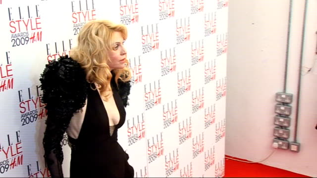 Arrivals and interviews ****FLASH Courtney Love posing for photocall