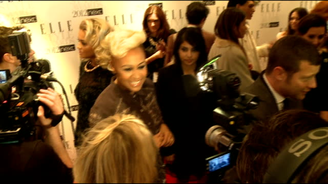 elle style awards in london int christina hendricks interviewed by another crew general views of emeli sande general views of dermot o'leary eddie... - christina hendricks stock videos and b-roll footage