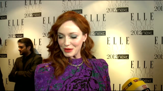 elle style awards in london int florence and the machine general views christina hendrics sot on top style tips i'm here to learn style icons old... - christina hendricks stock videos and b-roll footage