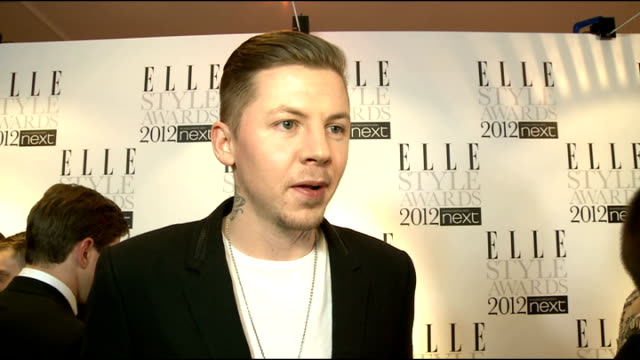 Elle Style Awards in London INT Professor Green SOT On Girls fashion 'your beautiful but your shoes really let you down you never want to say that do...