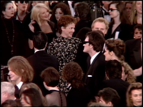 ellen barkin at the 1995 academy awards arrivals at the shrine auditorium in los angeles, california on march 27, 1995. - 67th annual academy awards stock videos & royalty-free footage