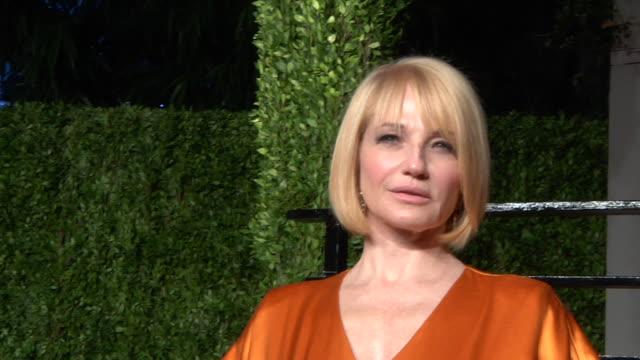 Ellen Barkin at the 2011 Vanity Fair Oscar Party Inside at Hollywood CA