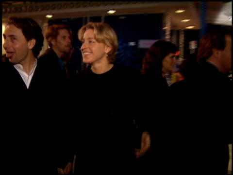 ellen degeneres and arye gross at the 'interview with the vampire' premiere at the mann village theatre in westwood california on november 9 1994 - レジェンシービレッジシアター点の映像素材/bロール