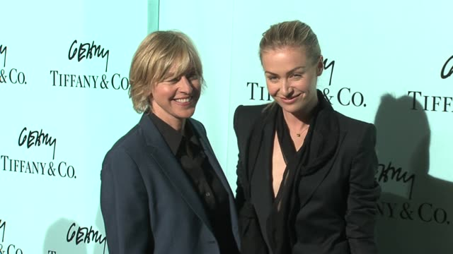 Ellen DeGeneres and Portia de Rossi at the Tiffany Co Celebrates the Launch of Frank Gehry's Premiere Collection on Rodeo Drive at Tiffany Co in...