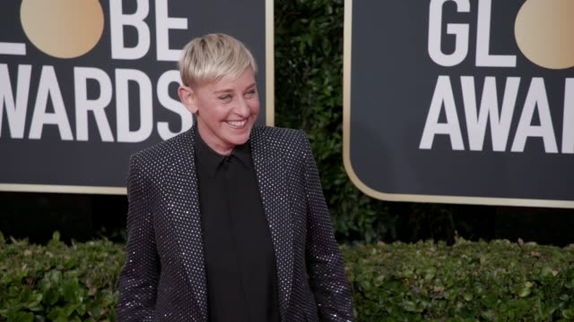 ellen degeneres at 77th annual golden globe awards at the beverly hilton hotel on january 05 2020 in beverly hills california - ellen degeneres stock-videos und b-roll-filmmaterial