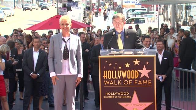 ellen degeneres at ellen degeneres honored with star on the hollywood walk of fame ellen degeneres at ellen degeneres honored with st on september 04... - ellen degeneres stock-videos und b-roll-filmmaterial
