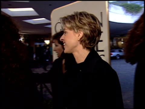 ellen degeneres at the 1995 golden globe awards at the beverly hilton in beverly hills california on january 21 1995 - ellen degeneres stock videos & royalty-free footage