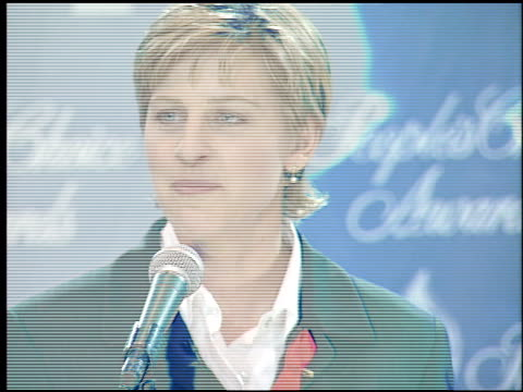 ellen degeneres at the 1995 people's choice awards at universal studios in universal city california on march 5 1995 - people's choice awards stock videos & royalty-free footage