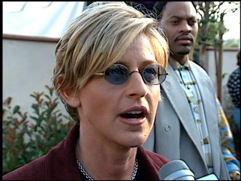 ellen degeneres at the 1996 mtv movie awards at disney studios in burbank california on june 8 1996 - ellen degeneres stock videos & royalty-free footage