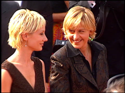 ellen degeneres at the 1997 emmy awards arrivals at the pasadena civic auditorium in pasadena california on september 14 1997 - pasadena civic auditorium stock videos & royalty-free footage