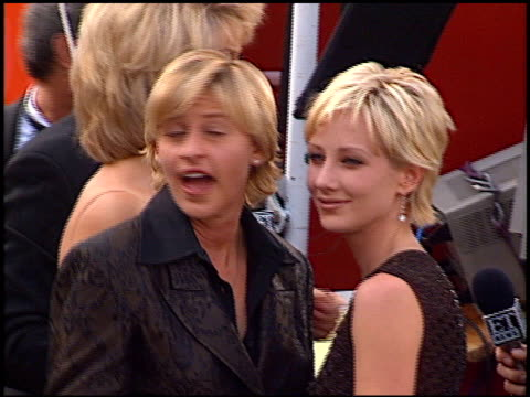 ellen degeneres at the 1997 emmy awards arrivals at the pasadena civic auditorium in pasadena california on september 14 1997 - 1997 stock videos & royalty-free footage