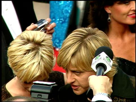 vídeos y material grabado en eventos de stock de ellen degeneres at the 1997 emmy awards arrivals at the pasadena civic auditorium in pasadena, california on september 14, 1997. - ellen degeneres