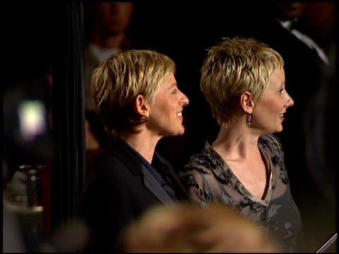 ellen degeneres at the 1998 academy awards vanity fair party at morton's in west hollywood, california on march 23, 1998. - 第70回アカデミー賞点の映像素材/bロール
