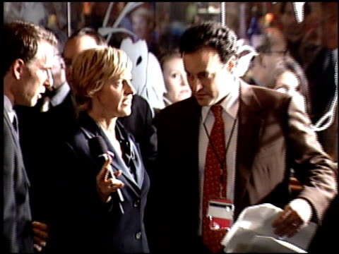 ellen degeneres at the 2001 emmy awards press room at the shubert theater in century city california on november 4 2001 - emmy awards stock videos & royalty-free footage