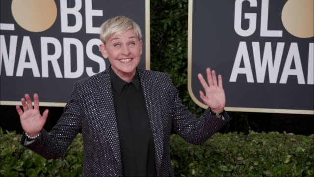ellen degeneres at the 77th annual golden globe awards at the beverly hilton hotel on january 05 2020 in beverly hills california - ellen degeneres stock-videos und b-roll-filmmaterial