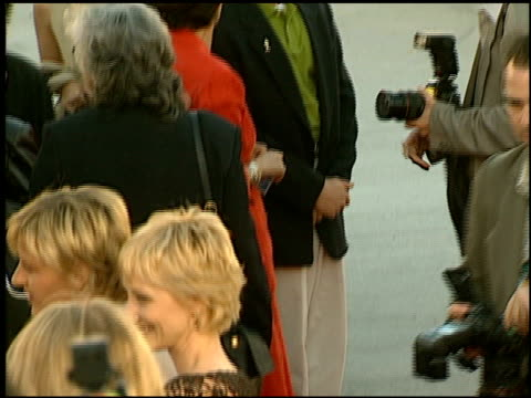 ellen degeneres at the 'contact' premiere at the mann village theatre in westwood, california on july 1, 1997. - anne heche stock videos & royalty-free footage