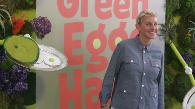 ellen degeneres at the netflix 'green eggs ham' los angeles premiere on november 03 2019 in los angeles california - ellen degeneres stock videos & royalty-free footage
