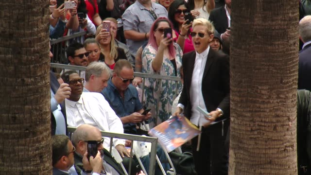 ellen degeneres at the *nsync honored with a star on the hollywood walk of fame on april 30 2018 in hollywood california - ellen degeneres stock-videos und b-roll-filmmaterial