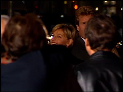 ellen degeneres at the 'sphere' premiere on february 11, 1998. - ウエストウッドヴィレッジ点の映像素材/bロール