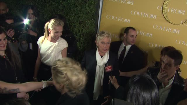 Ellen DeGeneres Portia De Rossi at the COVERGIRL Cosmetics' 50th Anniversary Party at West Hollywood CA