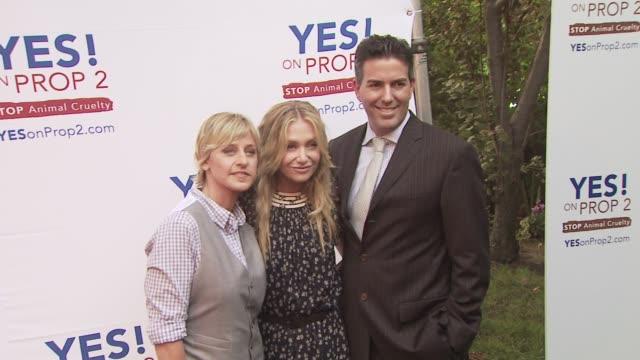 Ellen Degeneres Portia De Rossi at the Ellen DeGeneres and Portia De Rossi host Yes On Prop 2 party at Los Angeles CA