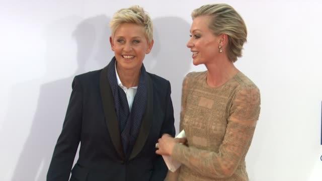Ellen DeGeneres Portia de Rossi Jane Krakowski at 64th Primetime Emmy Awards Arrivals on 9/23/12 in Los Angeles CA