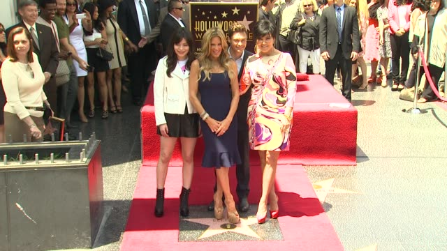 ellen k miranda cosgrove ryan seacrest and kris jenner at ellen k honored with star on the hollywood walk of fame ellen k miranda cosgrove ryan... - ryan seacrest stock-videos und b-roll-filmmaterial