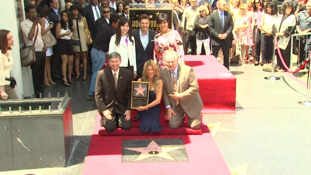 ellen k ryan seacrest miranda cosgrove and kris jenner at ellen k honored with star on the hollywood walk of fame ellen k ryan seacrest miranda... - ryan seacrest stock-videos und b-roll-filmmaterial